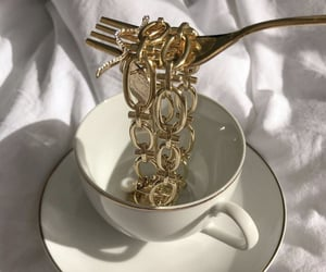 coffee, gold, and jewelry image