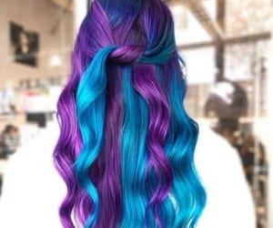colored hair, colorful hair, and purple hair image