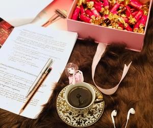 chocolate, study, and tea image