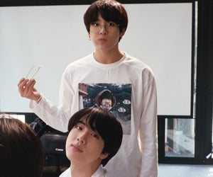 jeon jungkook, jin, and bts image
