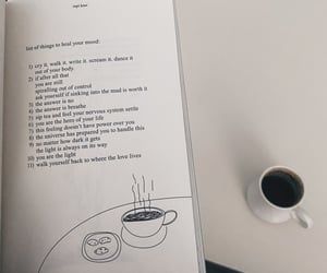 book, coffee, and poetry image