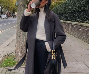 20, black coat, and long coat image