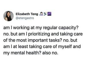 depression, tweet, and work image