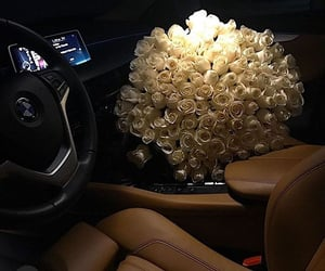 bmw, flowers, and luxury image