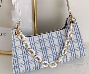 bag, blue, and checkered image