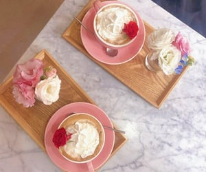 beige, cafe, and pink image