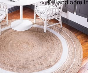 etsy, round area carpet, and living room rug image