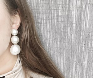 earrings, pearl, and pearly image