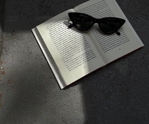 art, book, and glasses image