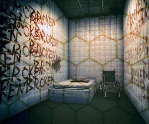 asylum, bed, and broken image