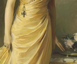 1920s, painting, and yellow image
