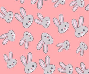 wallpaper, bunny, and pink image