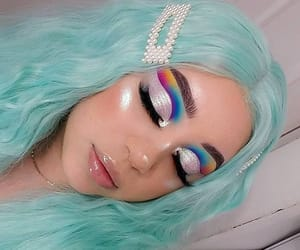 pastel-goth, dyed hair, and pastel hair image
