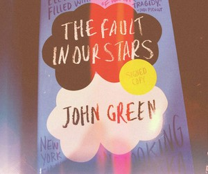 john green, the fault in our stars, and book image