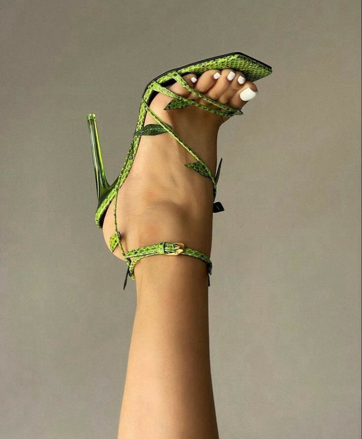 classy, green, and heels image