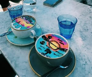 coffee, food art, and summer vibes image