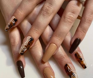 nails, brown, and fashion image