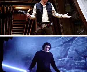 funny, han solo, and movie image