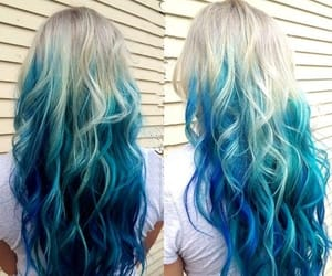 blue hair, hair inspo, and dyed hair image