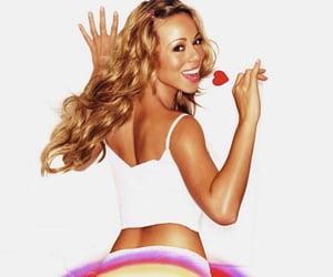 Mariah Carey and rainbow image