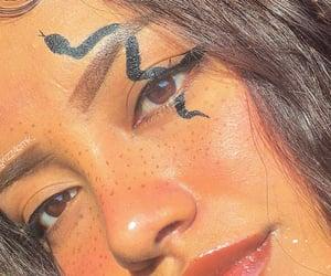 eyeliner, inspo, and snake image