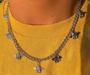 jewellery, necklace, and yellow image