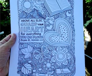coloring, clean heart, and guard your heart image