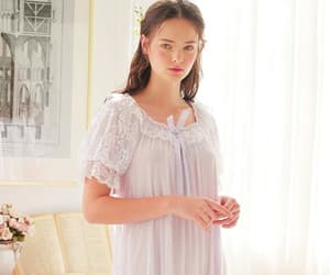 lace, nightgown, and nightie image