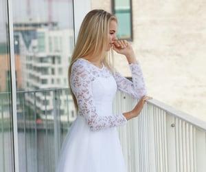 blonde, chiffon, and Full Skirt image