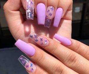 belleza, mujer, and uñas acrílicas image