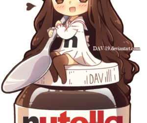 nutella, anime, and chibi image
