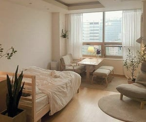 aesthetic, apartment, and bedroom image