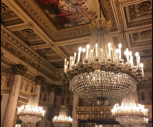 art, chandelier, and chandeliers image