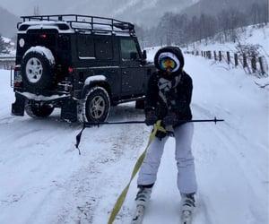 black, ski, and world image