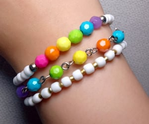 bracelet, chain bracelet, and seed beads image