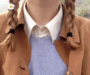 braids, sweater, and brown image