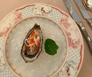 food, foods, and oyster image