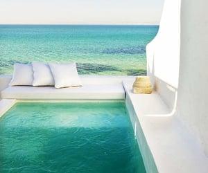 beach, ocean, and pool image