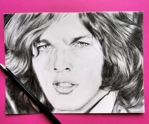art, black and white, and Pink Floyd image
