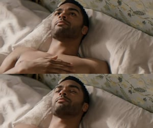 bed, handsome, and hot man image