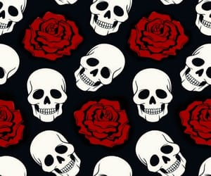 black, bones, and day of the dead image