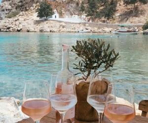 summer, drink, and wine image
