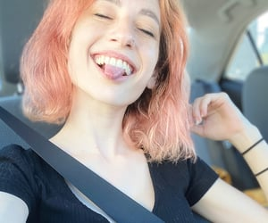 car, happy, and piercing image