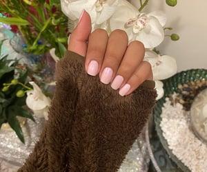 pink nails, hand pics, and chic image
