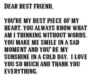 best friend, thank u, and feelings image