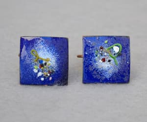 etsy, square earrings, and gift for her image