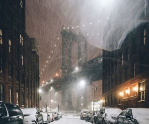 winter, new york, and snow image