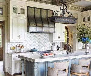 inspiration, kitchen island, and inspiring interiors image