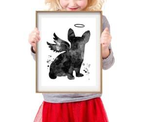 etsy, black watercolor, and dog art print image