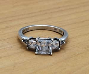 rings, cz stone, and etsy image